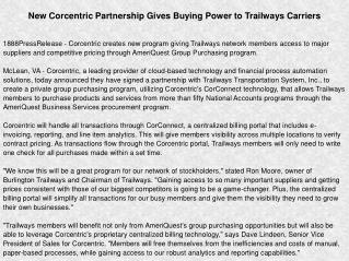 New Corcentric Partnership Gives Buying Power to Trailways