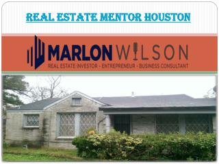 Real estate mentor Houston