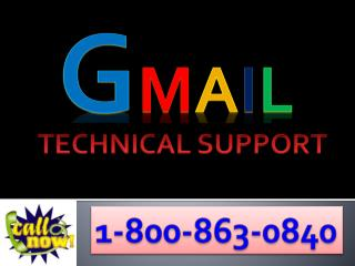 Expert technicians to fix Gmail issues at 1-800-(863)-0840