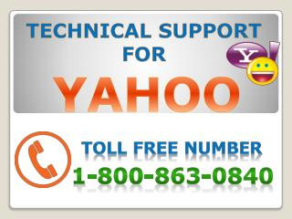 Instant solution for Yahoo problems at 1-800-(863)-0840
