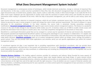 What Does Document Management System Include?