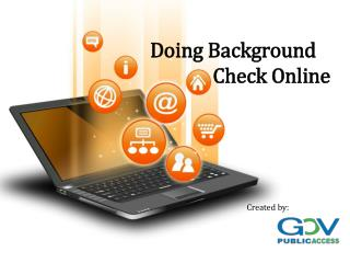 Doing Background Check Online