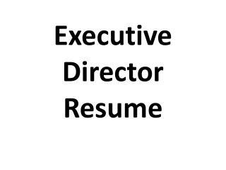 executive director resume