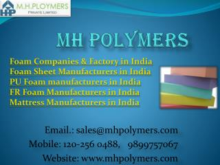 Foam Companies & Factory in India