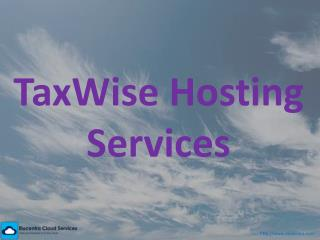 Taxwise Hosting Services