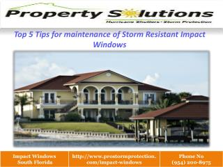 Resistant Impact Windows south florida