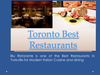 Best Italian Restaurant Toronto