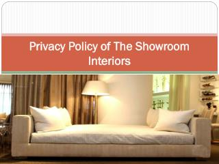 Privacy Policy of The Showroom Interiors