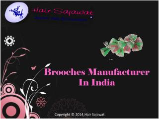 Brooches exporter and manufacturer in India