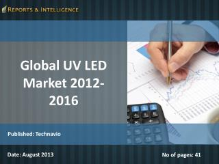 Global UV LED Market 2012-2016
