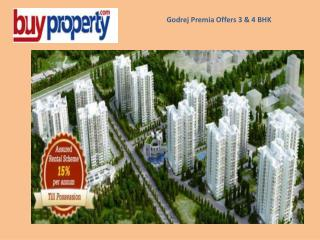 Godrej Premia Offers 3 and 4 BHK In Gurgaon Sector 104