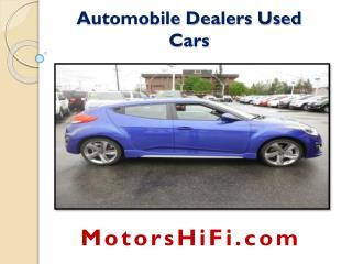 Automobile Dealers Used Cars