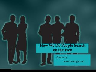 How We Do People Search on the Web