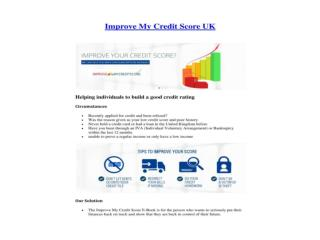 improve my credit score uk