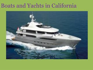 Yachts For Sale CA