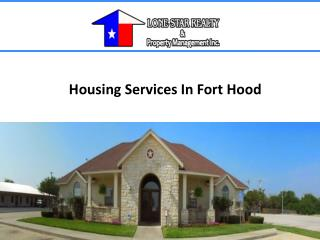 Housing Services In Fort Hood