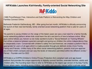 HiFiKiddo Launches Kid-friendly,