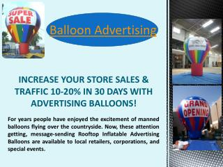 Outdoor Advertising Balloons