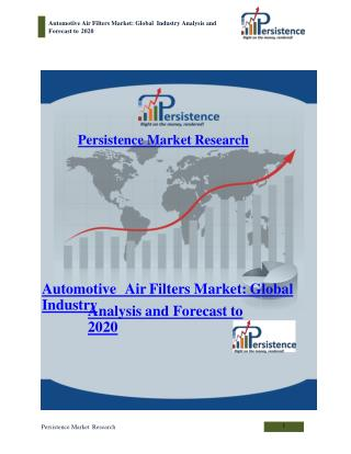Automotive Air Filters Market: Global Industry Analysis and