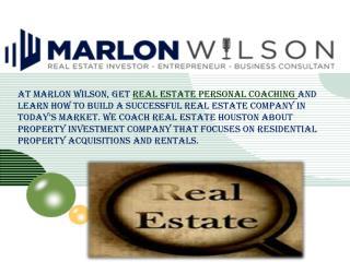 Real Estate Personal Coaching