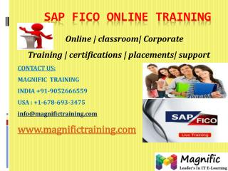 SAP FICO ONLINE TRAINING IN AUSTRALIA