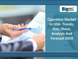 Cigarettes Market in USA 2014 : Big Market Research