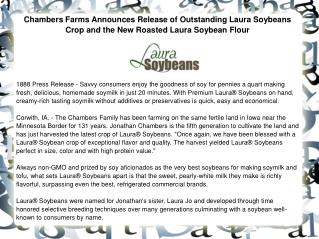 Chambers Farms Announces Release of Outstanding