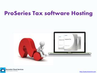 ProSeries Tax Software Hosting
