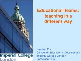 Educational Teams: teaching in a different way