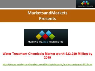 Water Treatment Chemicals Market worth $33,289 Million by 2019