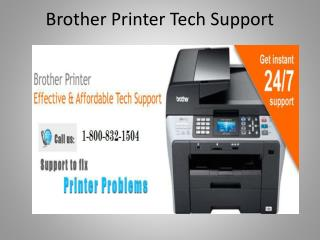 Brother Printer Tech Support 1-800-832-1504 | USA