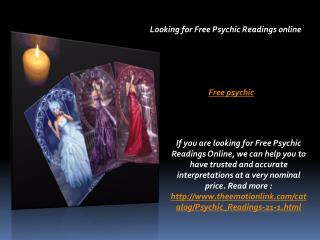 Looking for Free Psychic Readings online