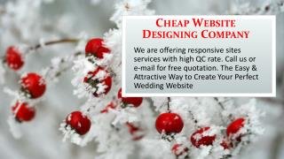Cheap Website Designing Company