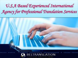 International Agency for Professional Translation Services