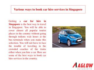 Various ways to book car hire services in Singapore