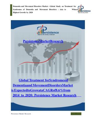 Syndromes of Dementia and Movement Disorders Market