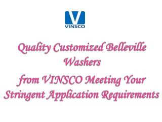 Quality Customized Belleville Washers from VINSCO