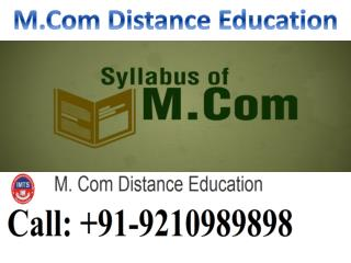 mcom distance education