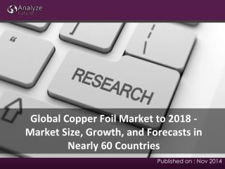 2018 Global Copper Foil Market Analysis & Research Report