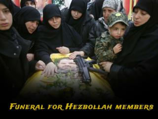 Funeral for Hezbollah members