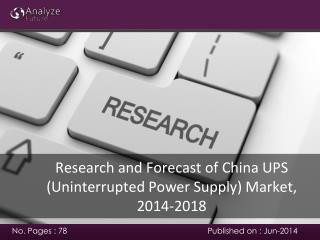 Forecast of China UPS (Uninterrupted Power Supply) Market, 2
