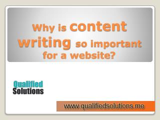 Importance of Quality Content Writing