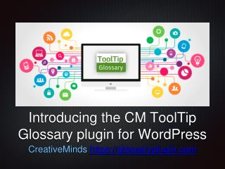 Introduction to CM ToolTip Glossary for WordPress