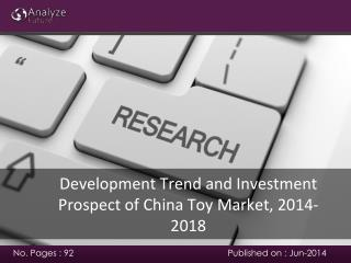 China Toy Market development trend, 2014-2018