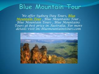 Best tour packages with Blue Mountains Tour