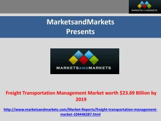 Freight Transportation Management Market