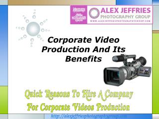 Corporate Video Production Company Dubai
