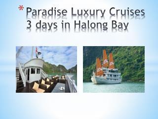 Paradise luxury cruises 3 days in halong bay