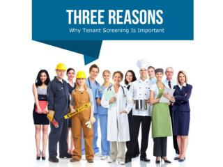 Three Reasons Why Tenant Screening Is Important