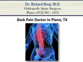 Back Pain Doctor In Plano TX